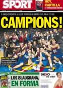 Portada diario Sport del 17 de Junio de 2012