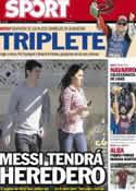 Portada diario Sport del 18 de Junio de 2012