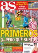 Portada diario AS del 19 de Junio de 2012