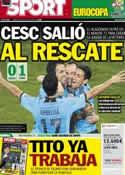 Portada diario Sport del 19 de Junio de 2012