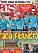 Portada diario AS del 20 de Junio de 2012