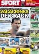 Portada diario Sport del 20 de Junio de 2012