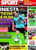 Portada diario Sport del 21 de Junio de 2012