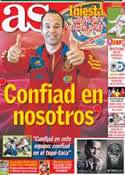 Portada diario AS del 22 de Junio de 2012