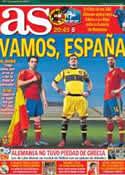 Portada diario AS del 23 de Junio de 2012