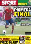 Portada diario Sport del 23 de Junio de 2012