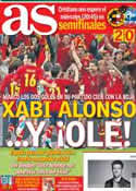 Portada diario AS del 24 de Junio de 2012