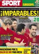 Portada diario Sport del 24 de Junio de 2012