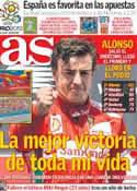 Portada diario AS del 25 de Junio de 2012