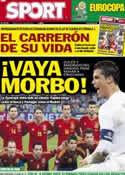 Portada diario Sport del 25 de Junio de 2012