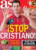 Portada diario AS del 27 de Junio de 2012