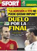 Portada diario Sport del 27 de Junio de 2012