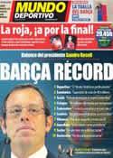 Portada Mundo Deportivo del 27 de Junio de 2012