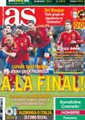 Portada diario AS del 28 de Junio de 2012