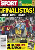 Portada diario Sport del 28 de Junio de 2012