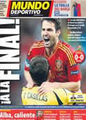 Portada Mundo Deportivo del 28 de Junio de 2012