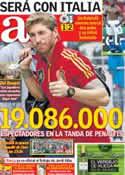 Portada diario AS del 29 de Junio de 2012