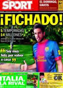 Portada diario Sport del 29 de Junio de 2012