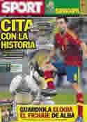 Portada diario Sport del 1 de Julio de 2012