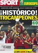 Portada diario Sport del 2 de Julio de 2012