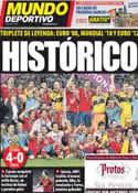 Portada Mundo Deportivo del 2 de Julio de 2012