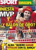 Portada diario Sport del 3 de Julio de 2012