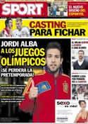 Portada diario Sport del 4 de Julio de 2012