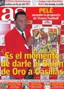 Portada diario AS del 5 de Julio de 2012