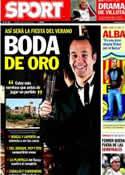 Portada diario Sport del 5 de Julio de 2012