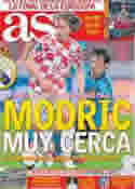 Portada diario AS del 6 de Julio de 2012