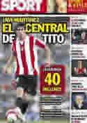 Portada diario Sport del 7 de Julio de 2012