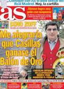 Portada diario AS del 8 de Julio de 2012