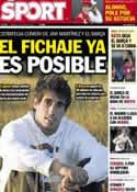 Portada diario Sport del 8 de Julio de 2012