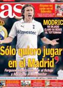 Portada diario AS del 9 de Julio de 2012