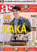 Portada diario AS del 13 de Julio de 2012