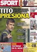 Portada diario Sport del 13 de Julio de 2012