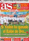 Portada diario AS del 14 de Julio de 2012