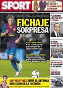 Portada diario Sport del 14 de Julio de 2012