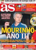Portada diario AS del 15 de Julio de 2012