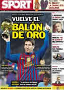 Portada diario Sport del 15 de Julio de 2012