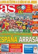 Portada diario AS del 16 de Julio de 2012