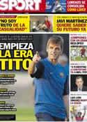 Portada diario Sport del 16 de Julio de 2012