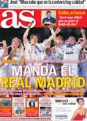 Portada diario AS del 17 de Julio de 2012