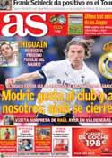 Portada diario AS del 18 de Julio de 2012