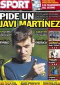 Portada diario Sport del 18 de Julio de 2012
