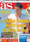 Portada diario AS del 19 de Julio de 2012