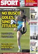 Portada diario Sport del 19 de Julio de 2012