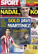 Portada diario Sport del 20 de Julio de 2012