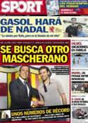 Portada diario Sport del 21 de Julio de 2012