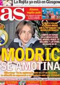 Portada diario AS del 22 de Julio de 2012